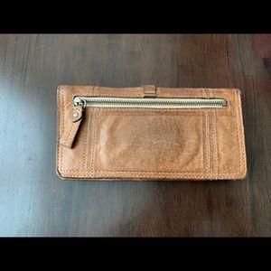 Juicy Couture Bags - Beige Leather Lock Envelop Wallet
